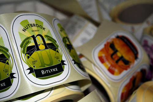 Nutbrook Brewery Labels